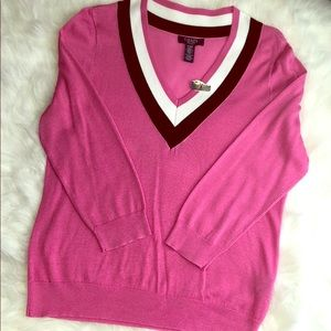 Chaps Pink Sweater